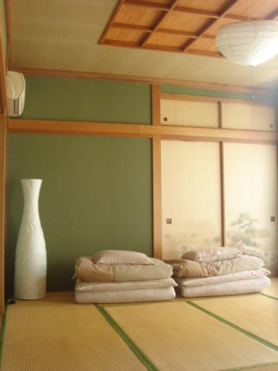 Asian Futon In The City Zen Minimalist Japanese Sleep Bedroom Clean Green