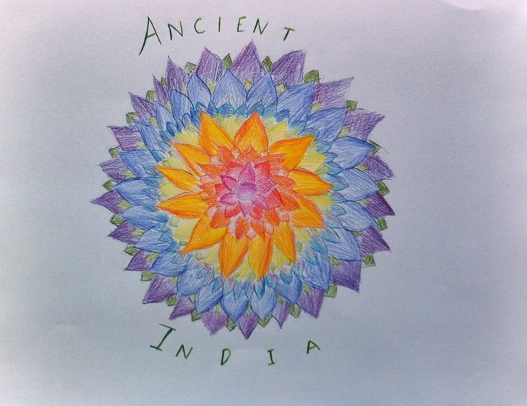 Waldorf ~ 5th grade ~ Ancient India ~ Title Page ~ main lesson book