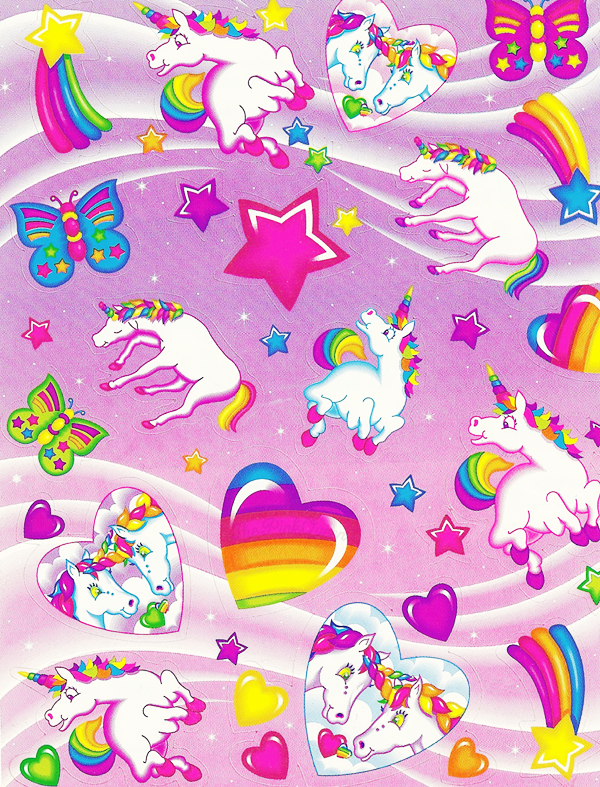 Tumblr Mbeesrzoqi1qd0n4ao1 1280 Png 600 787 Lisa Frank Unicorn Lisa Frank Stickers Lisa Frank