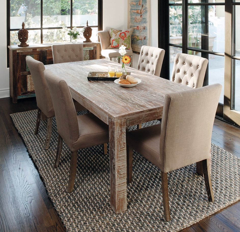 Upholstered Wood Dining Room Furniture