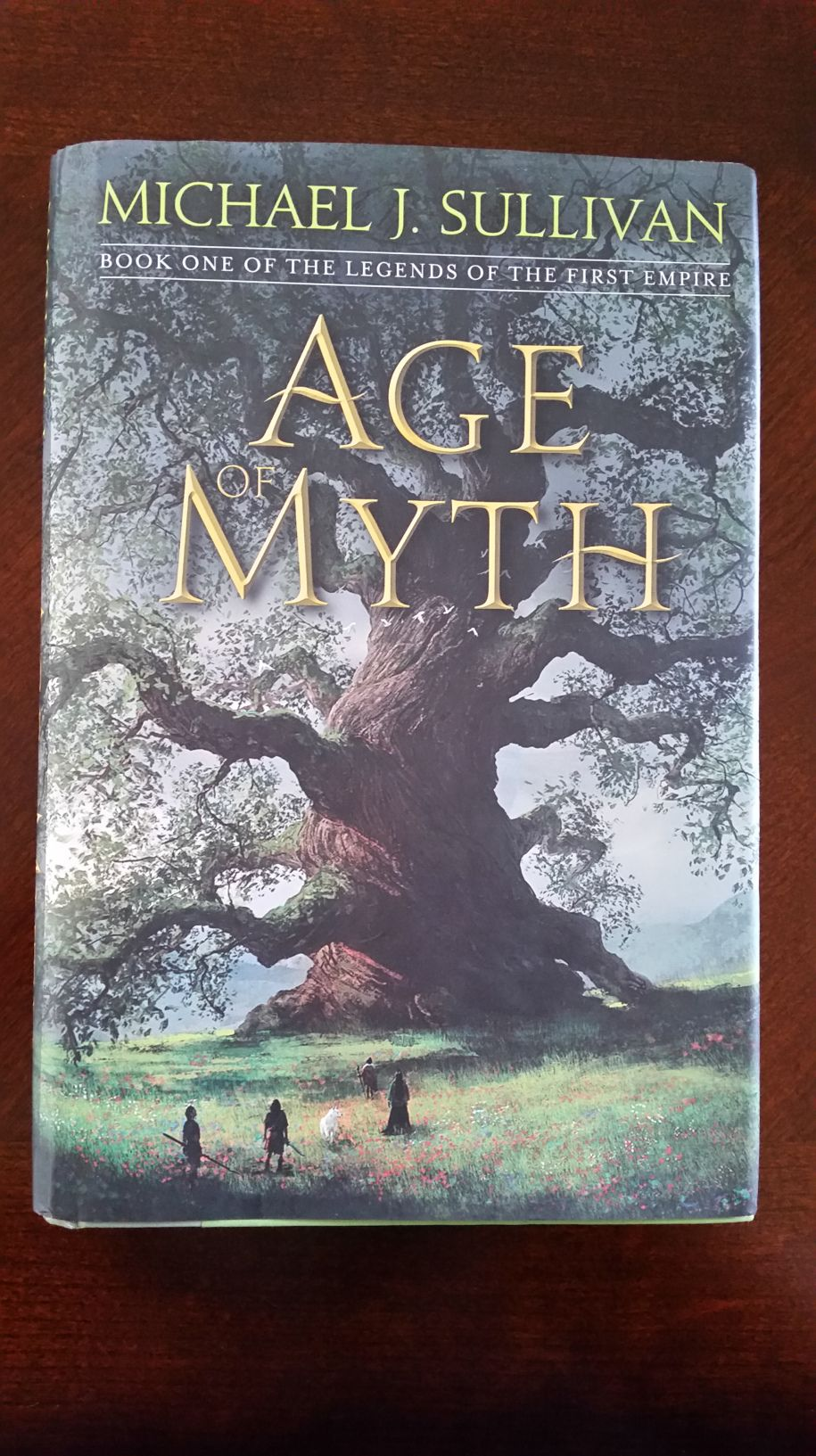 I got this in the mail this week! A beautiful signed and stamped copy of Age of Myth by Michael J. Sullivan . I am very excited for this book. I can't wait to dive into this new book and seri…