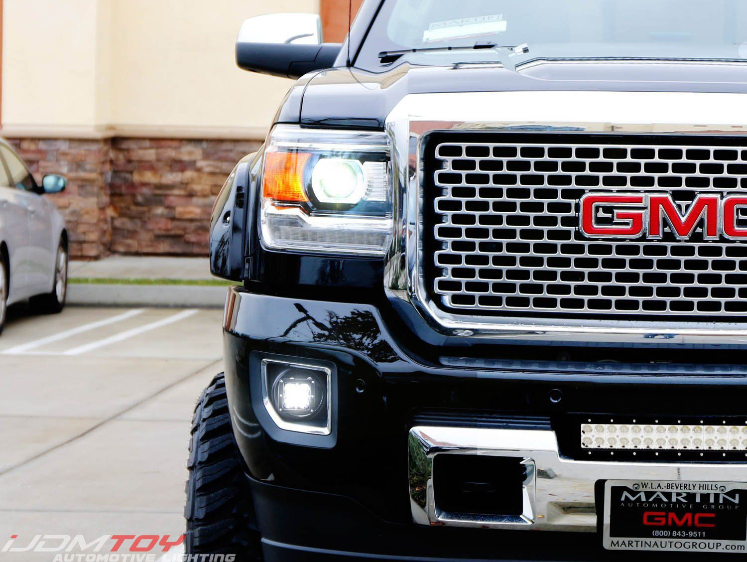Led Pod Light Fog Lamp Kit For 2015 19 Gmc Sierra 2500 3500 Hd 2