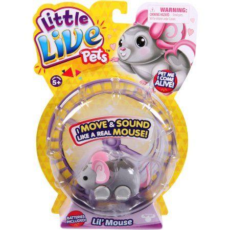 Moose Toys Little Live Pets Season 1 Lil Mouse Single Pack Smooch Walmart Com Little Live Pets Moose Toys Pet Mice