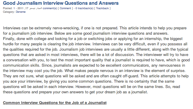 Good Journalism Interview Questions And Answers: Interviews Can Be  Extremely Nerve Wrecking, If