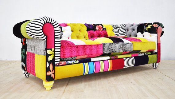 Chesterfield Patchwork Sofa Color Palette Avec Images Chesterfield Palette De Couleurs Palette