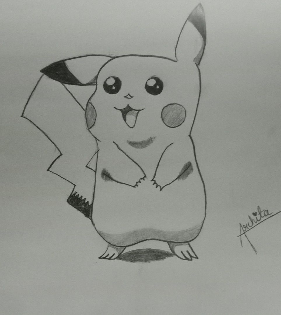 Pikachu pencil sketch | Art, Pencil sketch, Pencil art