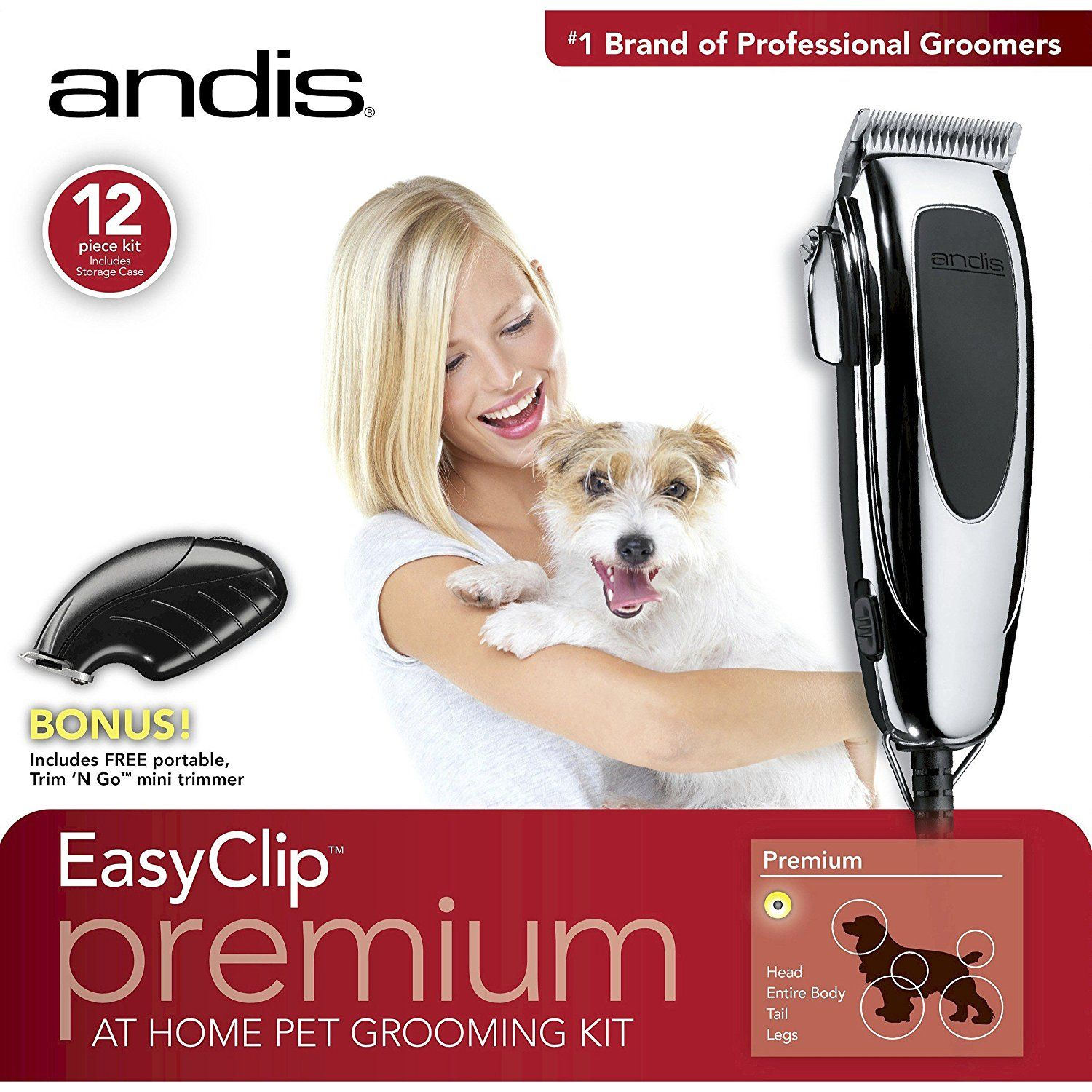 Andis Easy Clip Premium At Home Pet Grooming Kit Unbelievable
