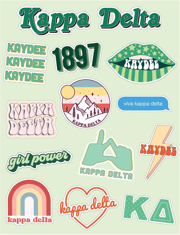 Phi Sigma Sigma Girl Power Sticker Sheet
