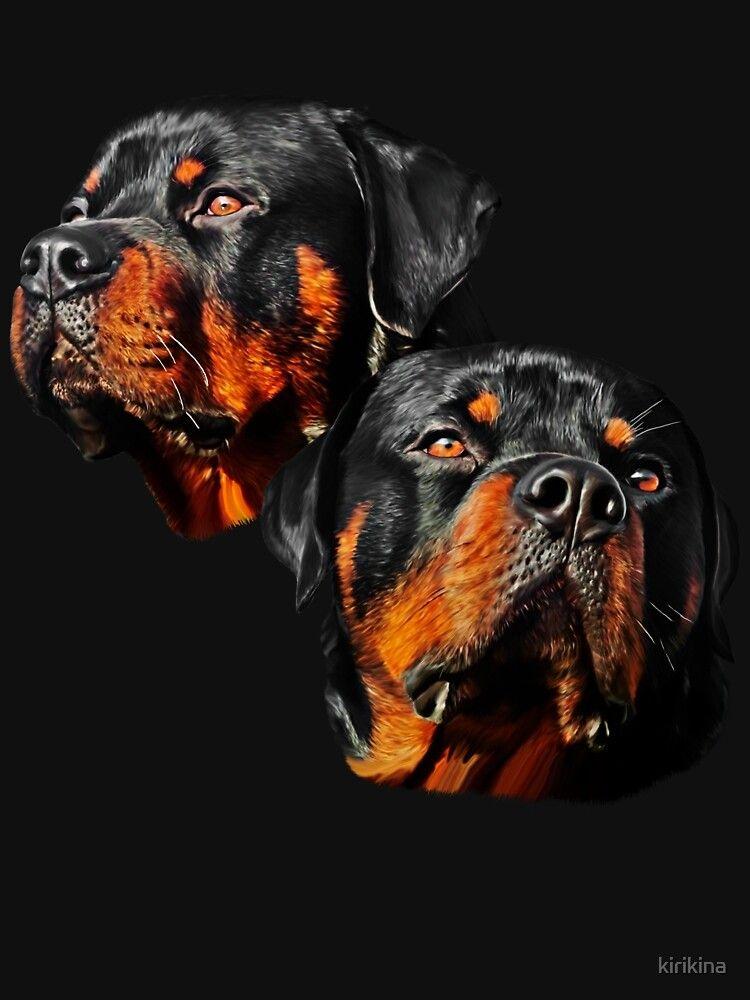 Rottweiler Dog Portrait T Shirt By Kirikina In 2020 Rottweiler Love Rottweiler Pictures Rottweiler Breed