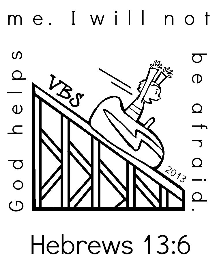 Hebrews 13 6 Coloring Page Vacation Bible School Craft Bible