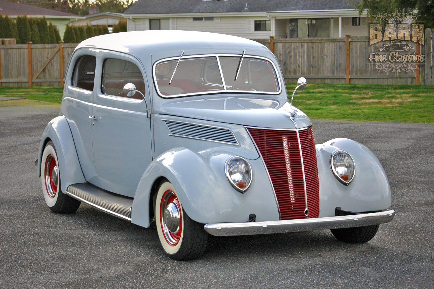 1937 Ford Sedan 2 Door Slantback Hotrod Hot Rod Old School USA ...