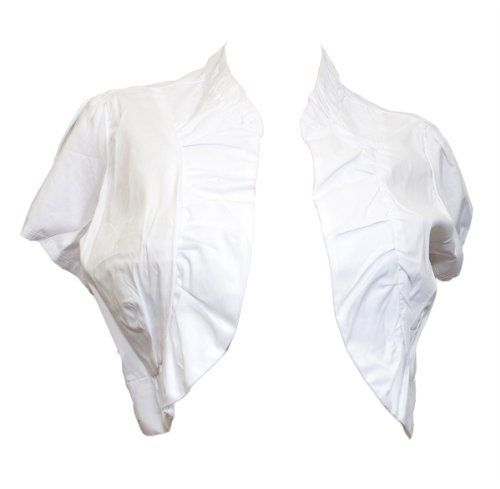 Plus size Cotton Open Front Cropped Bolero Shrug White - 1X eVogues Apparel,http://www.amazon.com/dp/B0075QT7FQ/ref=cm_sw_r_pi_dp_8ewMrbB2FFC24EB7