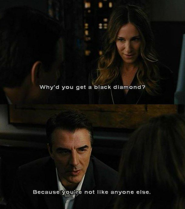 Mr.Big knew what type of ring she was.. | Carrie, big