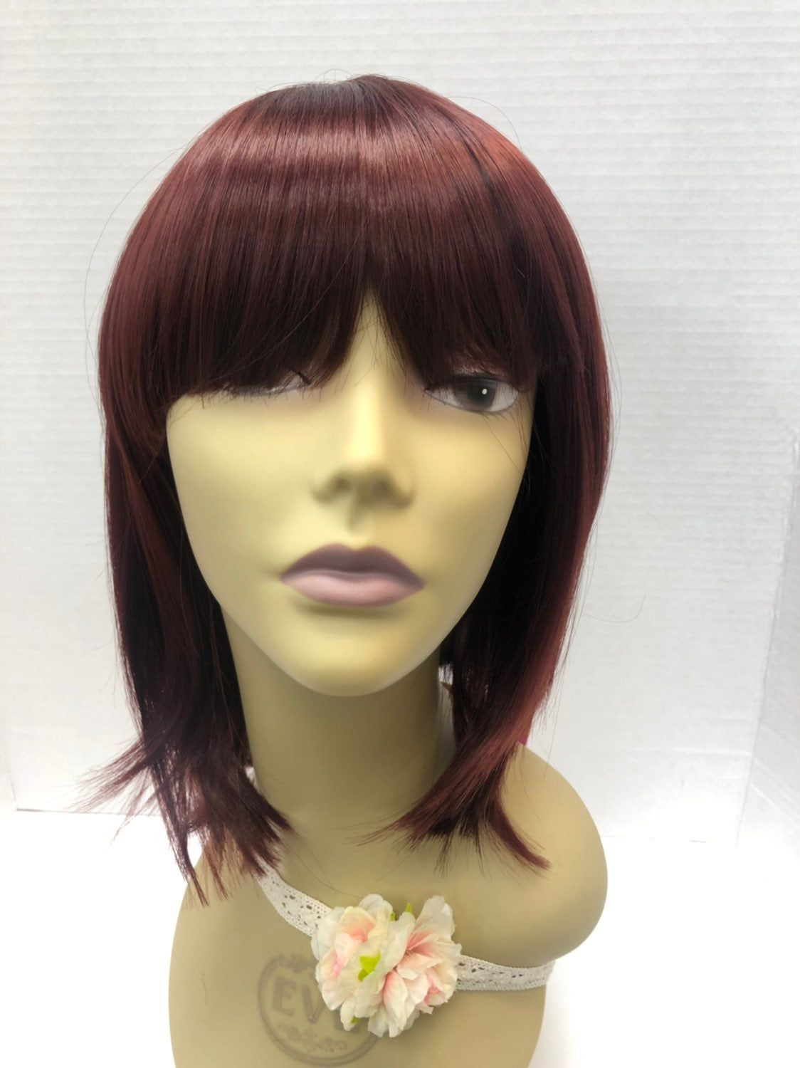 Premium Wig Color 99j Heat Resistant Stretchable Cap With Adjustable Straps You Will Receive A Brand New One That Was Taken Wigs Hair Accessories Color Options
