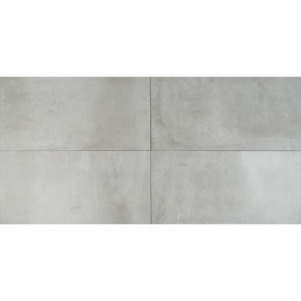 Ms International Cotto Grigio 12 In X 24 Glazed Porcelain Floor And Wall Tile 16 Sq Ft Case Nhdcotgri1224 The Home Depot