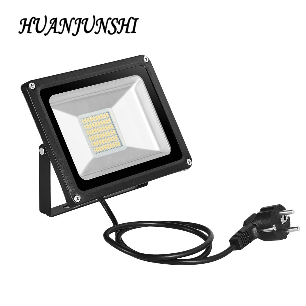 Outdoor Led Light Captivating 10W 20W 30W 50W 100W Led Floodlight With Eu Plug 220V Reflector Led Design Inspiration