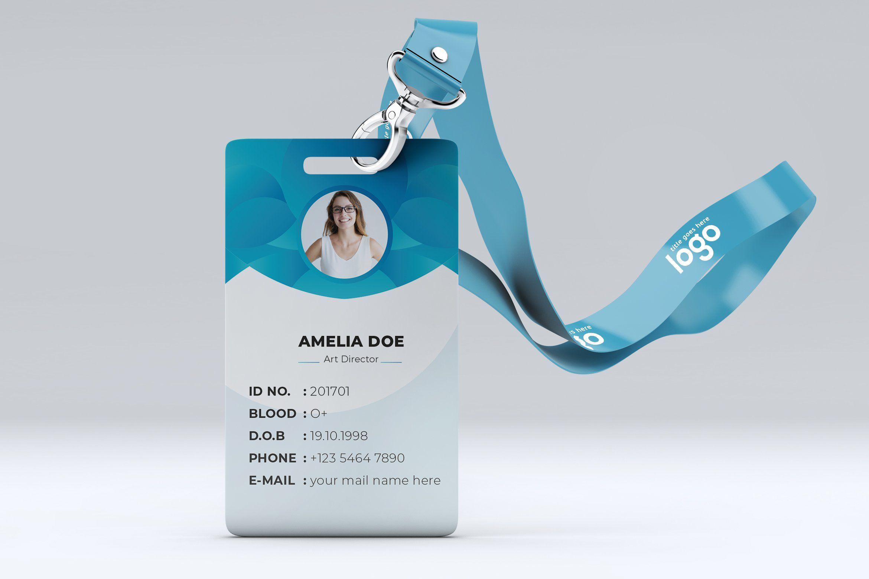 Modern Office Staff Id Card Design Card Design Identity Card Design Business Card Design