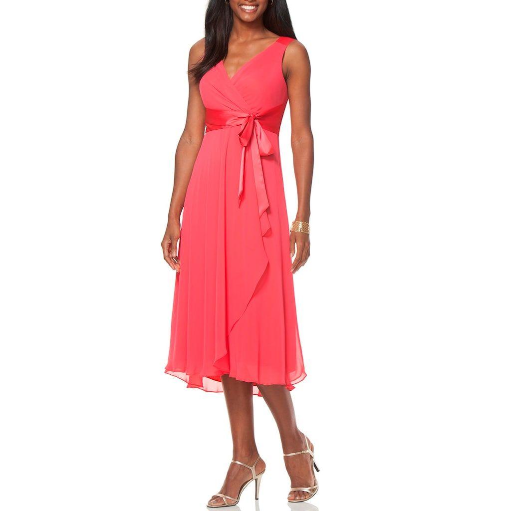 a64ca5ec8d4 Women s Chaps Surplice Midi Dress