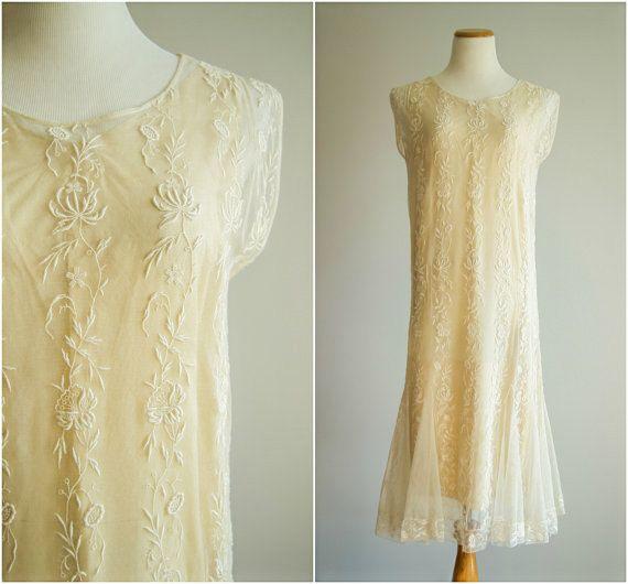 vintage 1920s dress 20s cream lace dress 20s wedding dress the new moon dress wedding. Black Bedroom Furniture Sets. Home Design Ideas