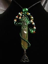 Irish Pride Pendant wire wrap pendant