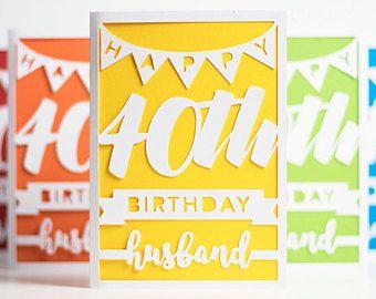 Happy 40th Birthday Husband Card