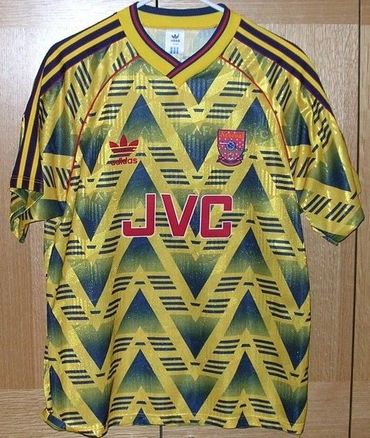buy popular 316d1 58e44 I like the piss yellow colour of this Arsenal 90's away kit ...