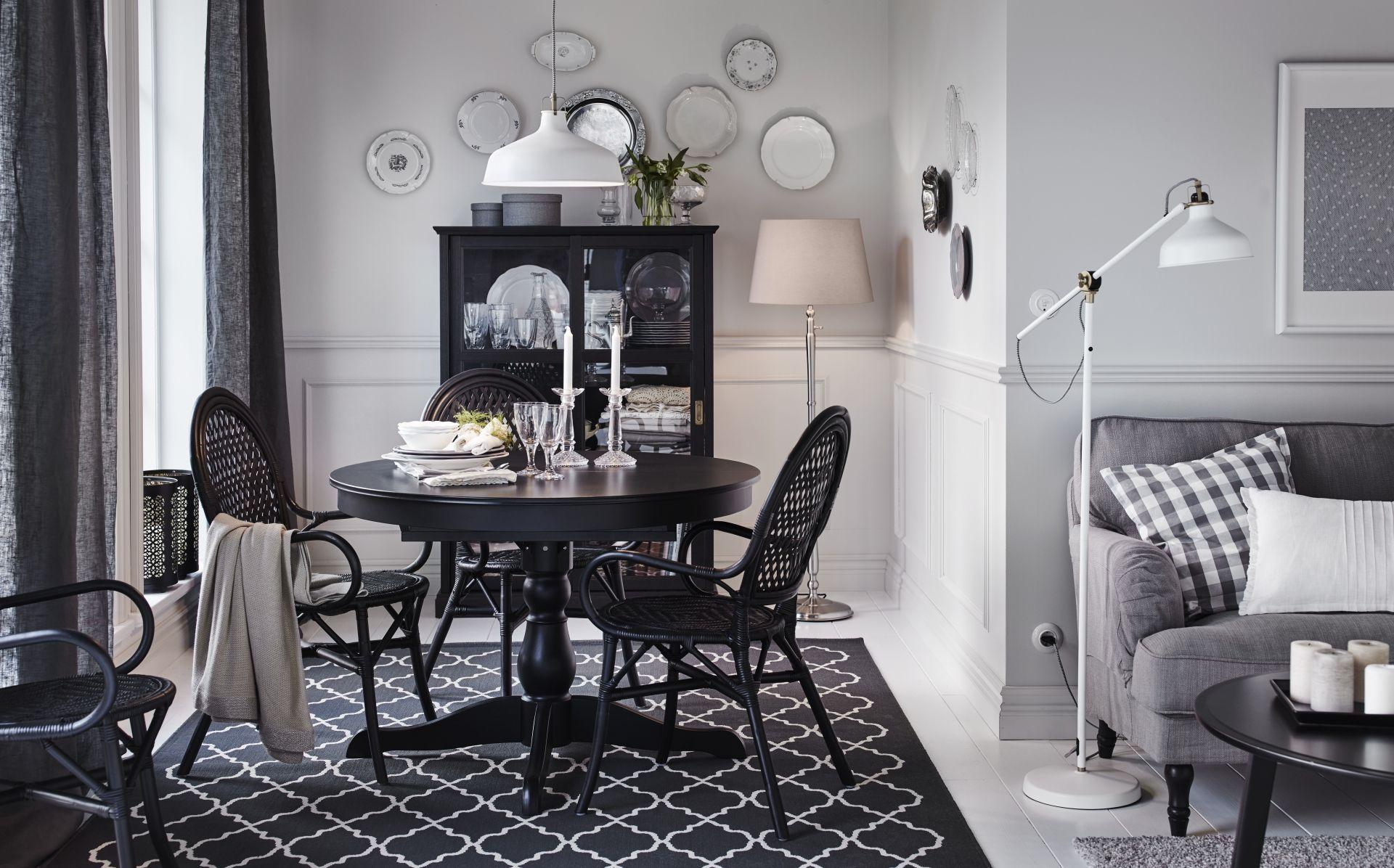 INGATORP tafel   IKEA IKEAnl IKEAnederland uitschuifbaar eetkamer eten drinken diner keuken landelijk klassiek traditioneel inspiratie wooninspiratie interieur wooninterieur zwart