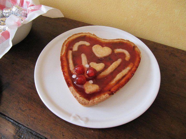 crostatina cuore alla marmellata