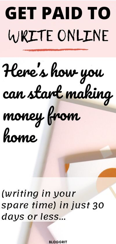 Work From Home Ideas. Get paid to write online.