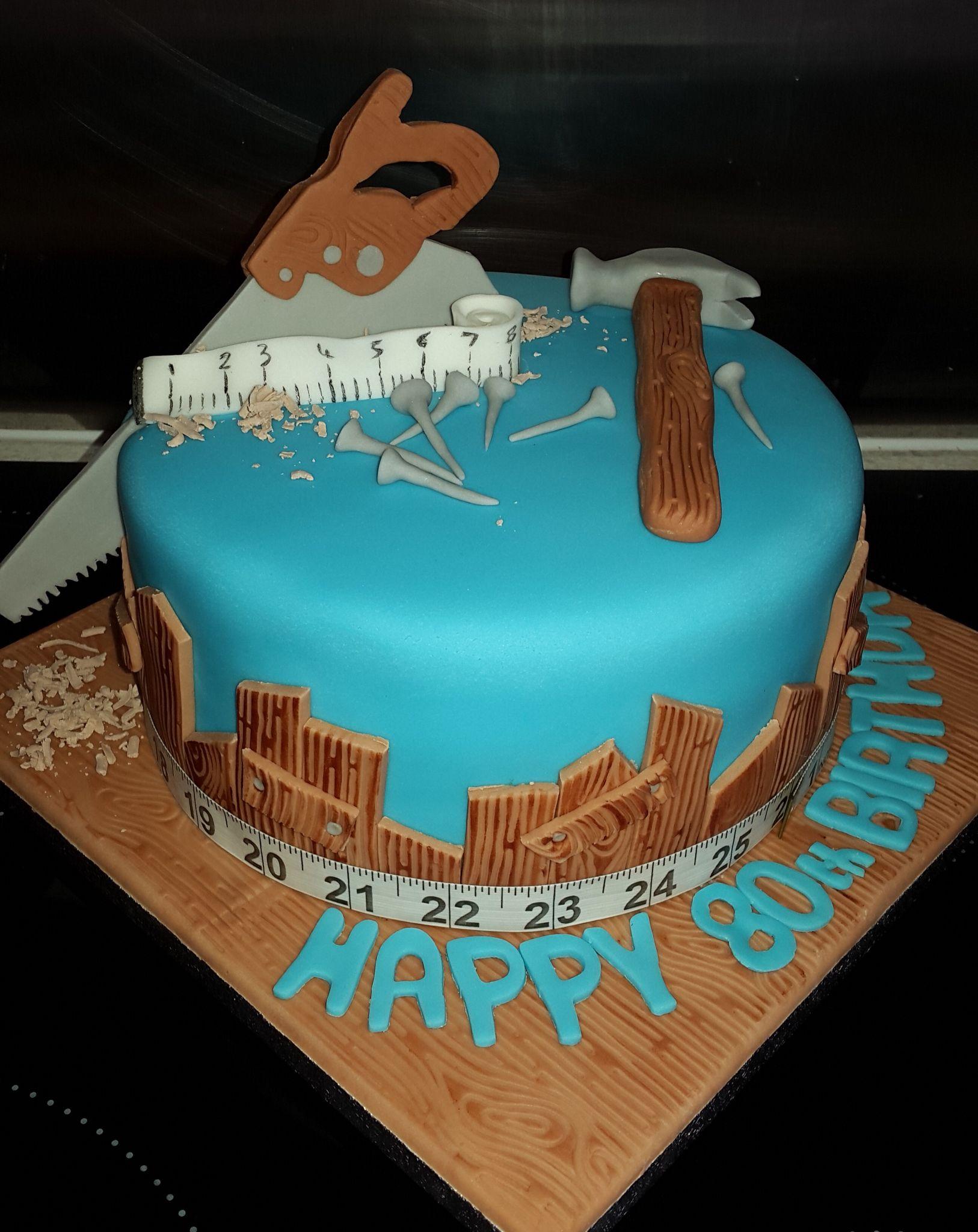 Carpenter Themed Birthday Cake Cupcake Icing Designs Birthday