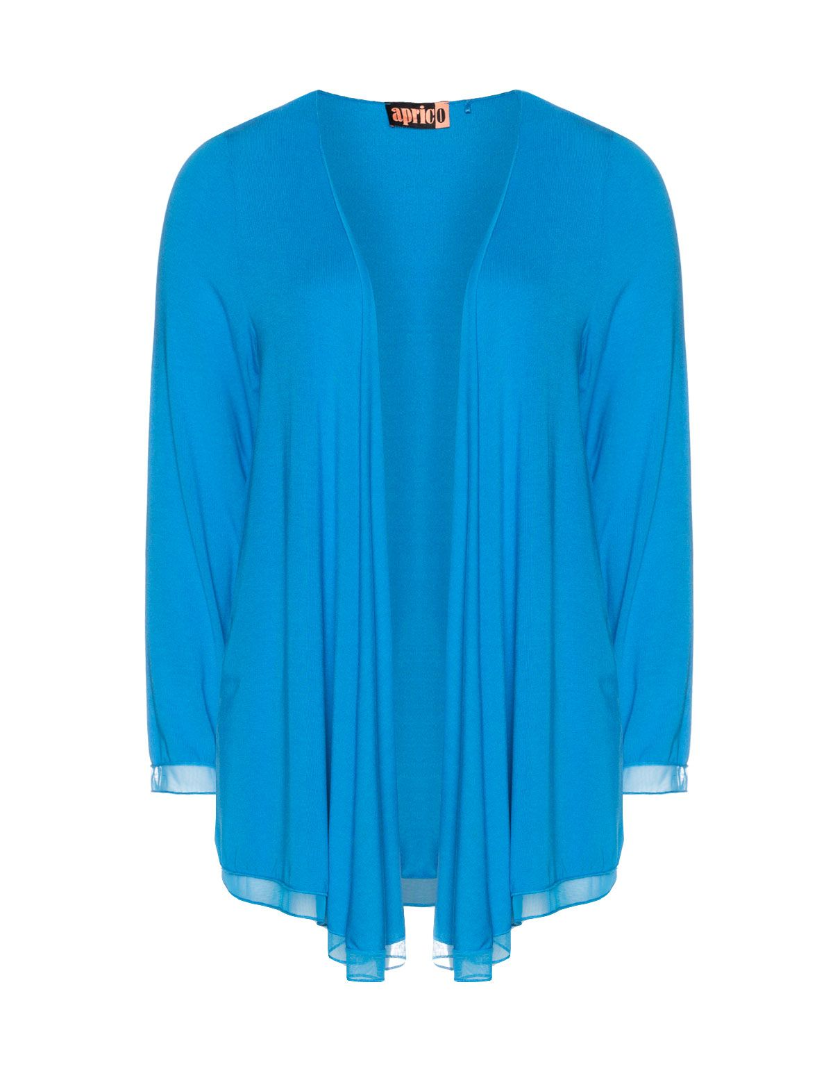 Aprico Fine knit waterfall cardigan in Blue | Knitted Pattern ...