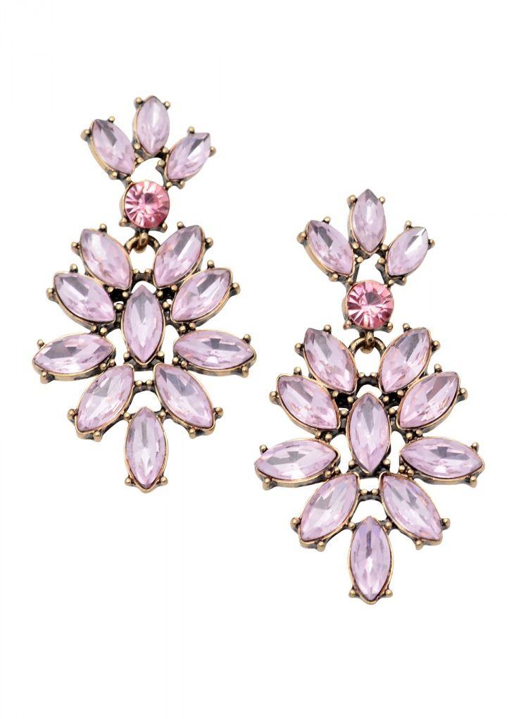 Vintage-Inspired Chandelier Earrings in Pink 16,90€ #happinessbtq