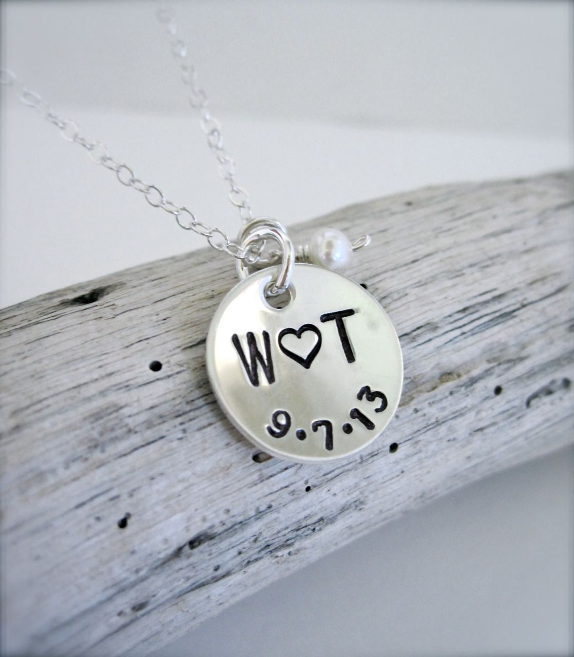 Couples initials necklace sterling silver bf gf necklace