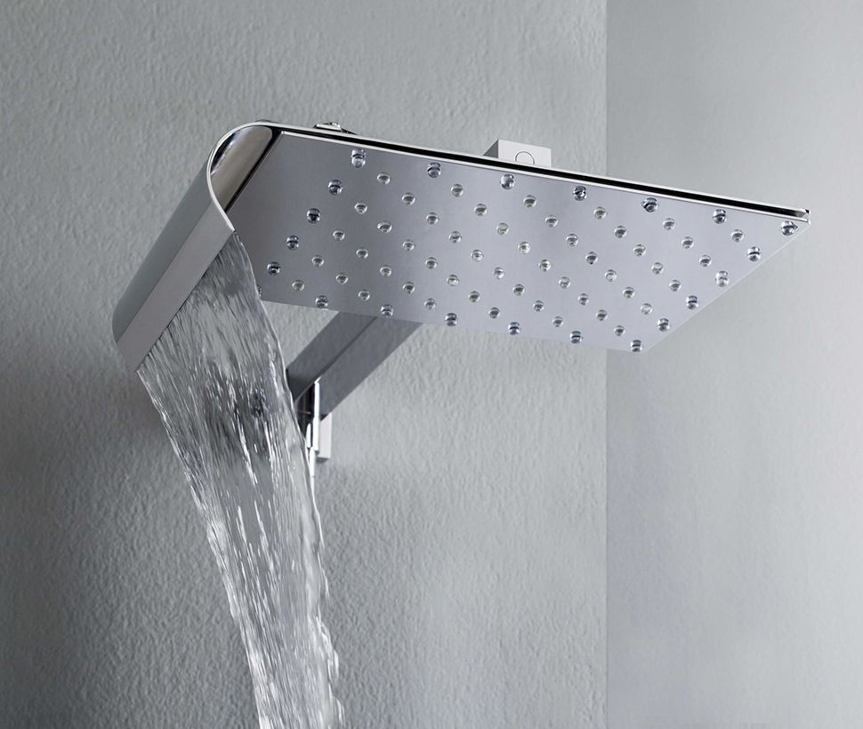 wall mounted rain shower head viceversa tender 1 Best Rain Shower Heads for Modern Eco Friendly Bathrooms