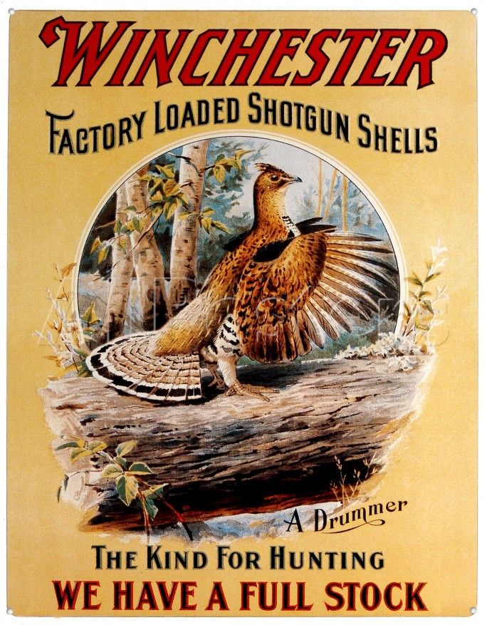 Vintage hunting posters and signs browse vintage art for Vintage fishing signs