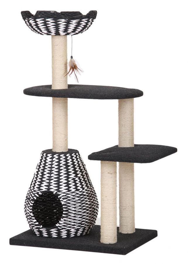 Pet Pals Contemporary 4Level Cat House with Feather