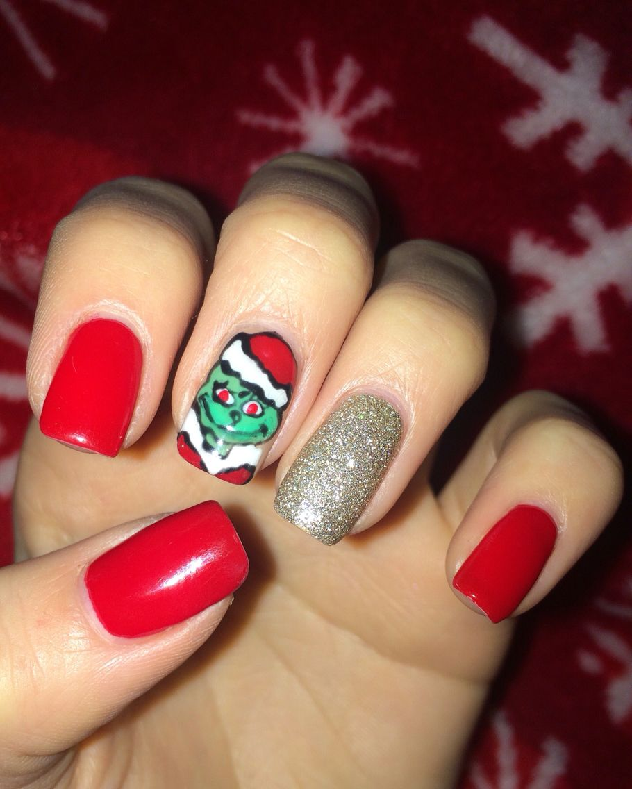 The Grinch Christmas Nails | Nailed It | Pinterest