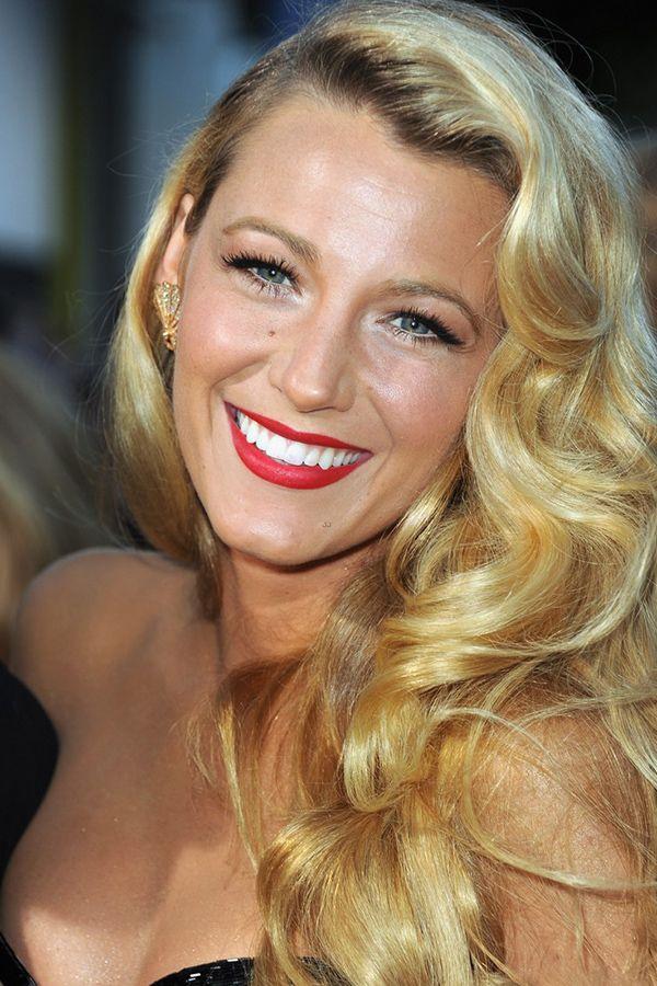 Blake Lively Red Carpet Hair Red Lips Pinterest Blake