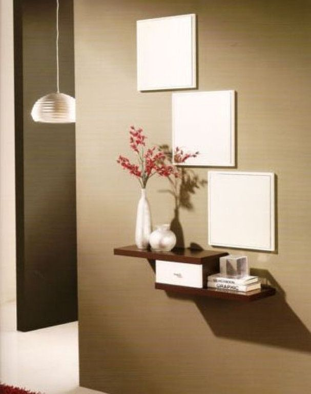 Para recibidores muy muy peque os ideas para el hogar for Consolas decoracion hogar