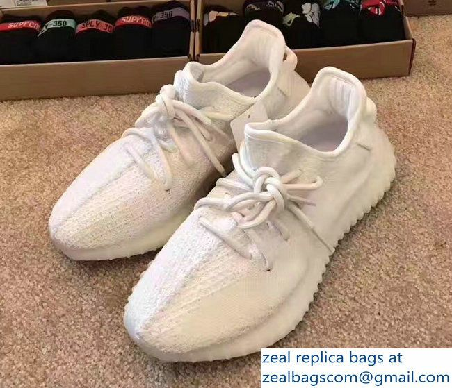 Adidas X Yeezy 350 Boost Oxford Sneakers All White 2017