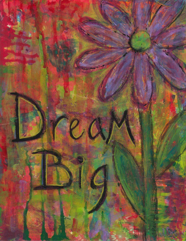 Big dreams wall art decor big dreams for her dream big boho big