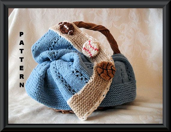 b6d8921d7db Knitting Pattern for Baby Blanket Hand Made Knitted Blanket Pattern ...
