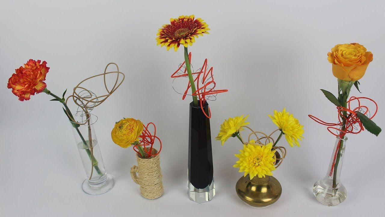 lustige blumendeko mit peddigrohr selber machen deko ideen mit flora shop deko selber machen. Black Bedroom Furniture Sets. Home Design Ideas
