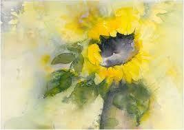 Bildergebnis Fur Sonnenblume Aquarell Sonnenblumen Aquarell Blumen