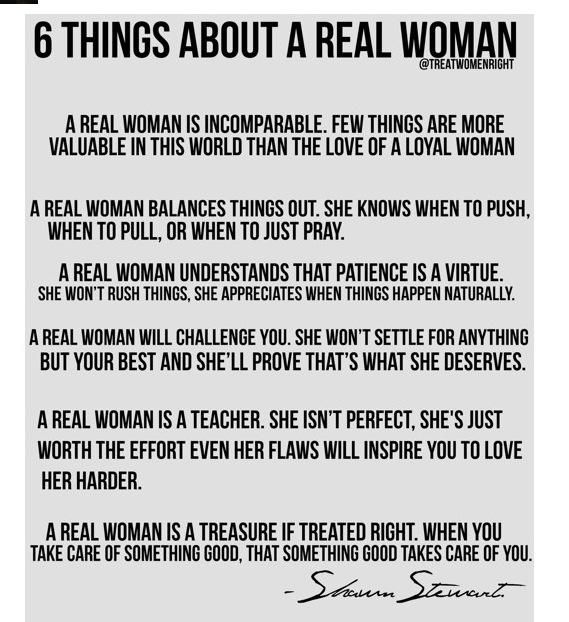 6 things about a real woman | Thoughts quotes, Words of