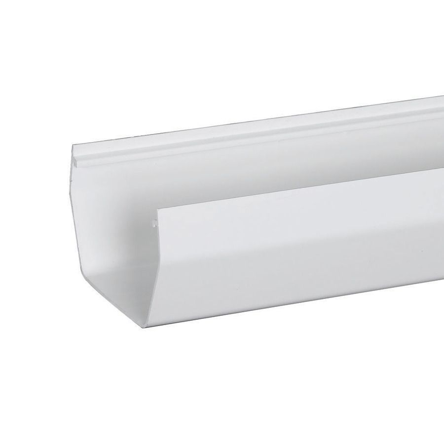 Amerimax Contemporary 4 In X 120 In White Half Round Gutter T0473 In 2020 Contemporary Gutter Vinyl Gutter