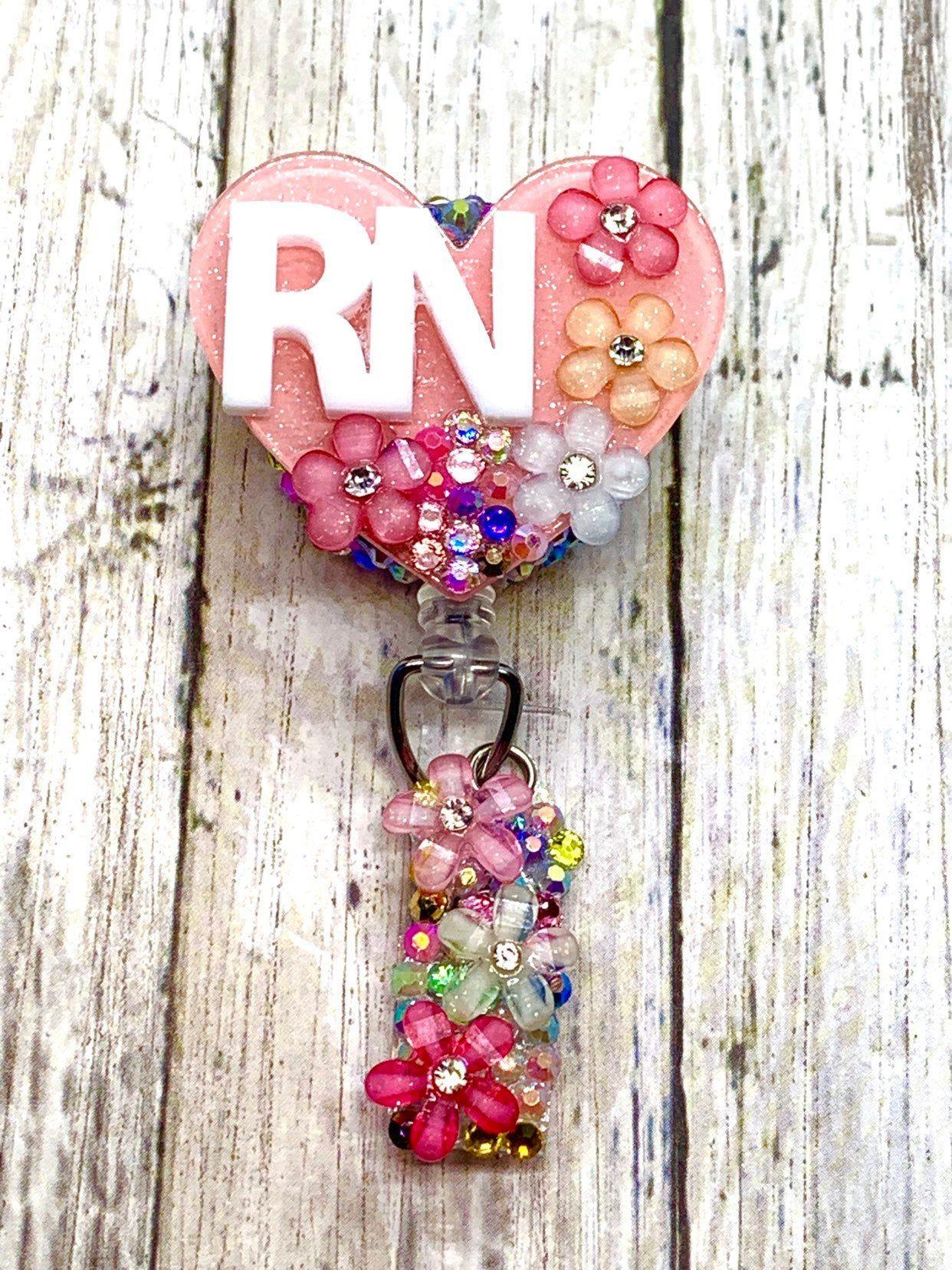 Nurse Retractable Badge Holder Nurse ID Trauma Nurse Interchangeable Badge Reel
