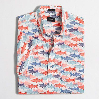 d0178fe2 Factory slim short-sleeve lightweight printed shirt : Shirts | J.Crew  Factory