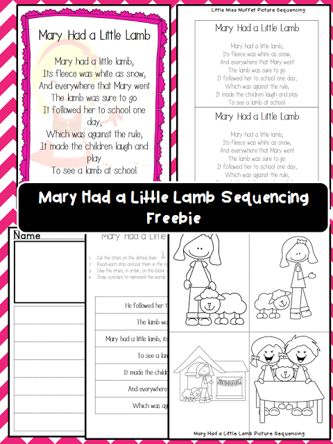 Mary Had A Little Lamb Poster And Sequencing Freebie