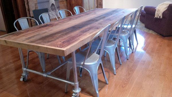 Pipe Tables For The Home Dining Room Table
